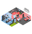 isometric smart home composition vector image vector image