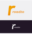 letter r logo road concept with r vector image