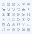 line cyber monday icons vector image