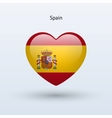 Love Spain symbol Heart flag icon vector image