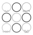 marine rope round frames set vector image vector image