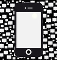 mobile black background vector image vector image