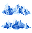 Mountain range in origami style vector image vector image