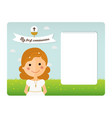 my first communion invitation with foreground vector image vector image