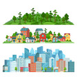 nature suburban landscape and cityscape isolated vector image