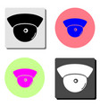 observation camera flat icon vector image vector image