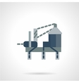 Oil drilling rig flat icon vector image
