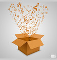open paper box with notes vector image vector image