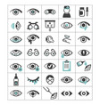 ophthalmic set icons eyes with impaired vision vector image vector image