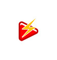 play electric icon logo design element vector image