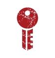 Red grunge key logo vector image vector image