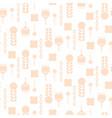 scandinavian folk pale pink floral art pattern vector image vector image