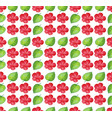 seamless background design with red flowers vector image vector image