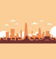 seoul silhouette skyline south korea city view vector image vector image