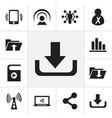 Set of 12 editable web icons includes symbols