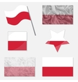 Set with Flags of Poland vector image vector image