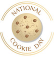 sign and logo concept national cookie day vector image vector image
