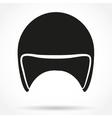 Silhouette symbol of motorbike classic helmet vector image vector image