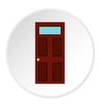 Steel door icon flat style vector image vector image