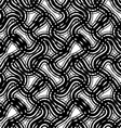 Stripes black and white geometric seamless pattern vector image vector image