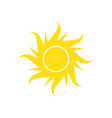 sun icon on white background for graphic and web vector image vector image