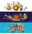 Viking Banners Set vector image