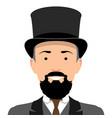 vintage gentleman portrait vector image vector image