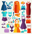 women summer clothing in flat style vector image vector image