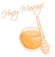 hand drawn of isolated massage honey vector image