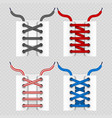 color shoelace for footwear colored lace shoe vector image