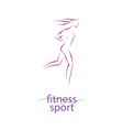 Fitness and sport girl silhouette vector image