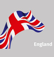 background with england wavy flag vector image vector image