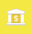 bank icon saving or accumulation of money vector image vector image