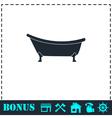 Bathtub icon flat vector image vector image