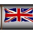 Battle Damaged Union Jack vector image vector image