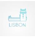 belem tower - symbol lisbon portugal vector image vector image