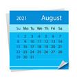 calendar sheet for month august 2021