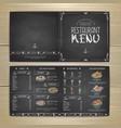 chalk drawing restaurant menu design vector image vector image