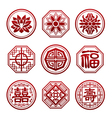 Chinese new year icon paper cut vector image