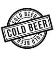 Cold Beer rubber stamp vector image vector image
