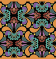 colorful abstract paisley seamless pattern vector image
