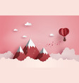 concept of valentines day and wedding vector image