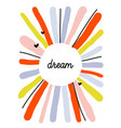 creative design template with abstract color lines vector image vector image