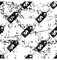 Dollar price pattern grunge monochrome vector image vector image