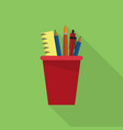 drawing tools icon set of great flat icons vector image vector image