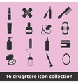 drugstore icons vector image vector image