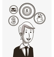 economy related icons line design image vector image vector image