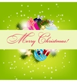 Elegant Christmas card background vector image