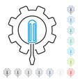 Engineering contour icon