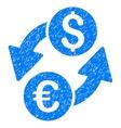 Euro Dollar Exchange Grainy Texture Icon vector image vector image